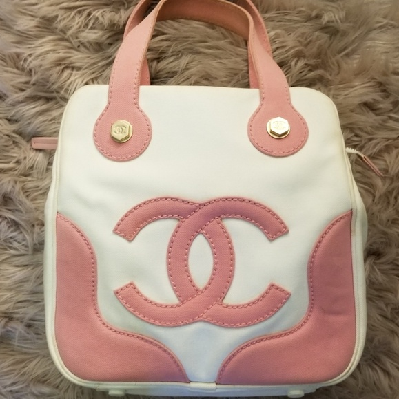 7ee187aeee7ee5 CHANEL Bags | Marshmallow White Pink Canvas Bag | Poshmark